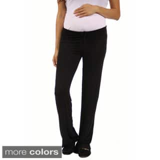 24/7 Comfort Apparel Women's Draw String Maternity Narrow Pants|https://ak1.ostkcdn.com/images/products/10206416/P17329524.jpg?impolicy=medium