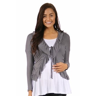 24/7 Comfort Apparel Women's Long Sleeve Maternity Tie Front Jacket