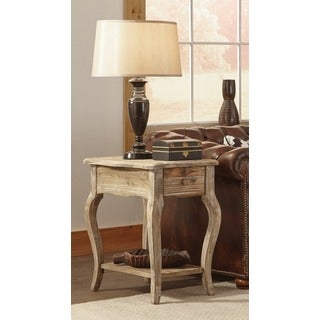 Alaterre Rustic Reclaimed Wood Accent Table, with Shelf, and Drawer