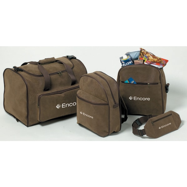 Outback 4-piece Brown Faux Leather Luggage Set - Free Shipping ...