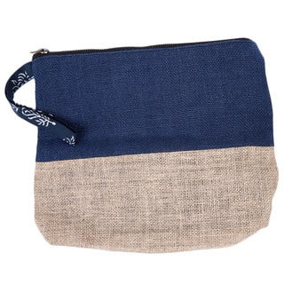 Jute Blue Colorblock Wristlet (India)