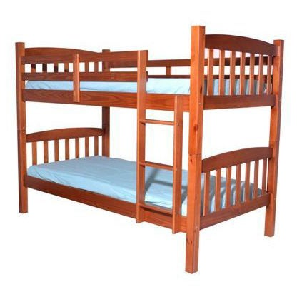 Shop Solid Pine Wood Arch Bunk Bed Free Shipping Today Overstock