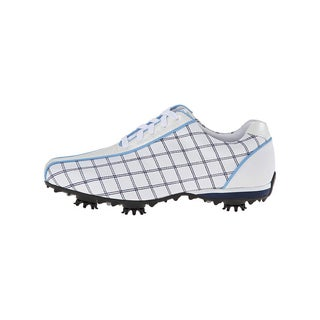 FootJoy Women's LoPro Collection Golf Shoes White/ Navy/ Light Blue