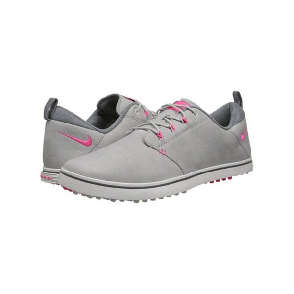 Nike Women's Lunar Adapt Golf Shoes 652527-001 Spikeless Grey/ Pink/ White