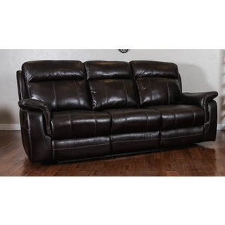 Somette Glasgow Series Black Action Fabric Reclining Sofa