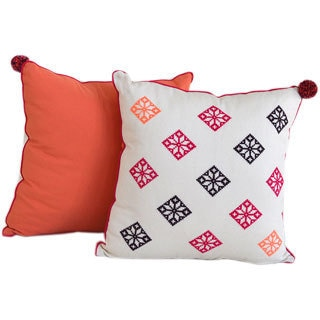 Fiori Freschezza Hand-Embroidered Decorative Pillow