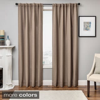 Softline Solara Faux Linen Blackout Curtain Panel