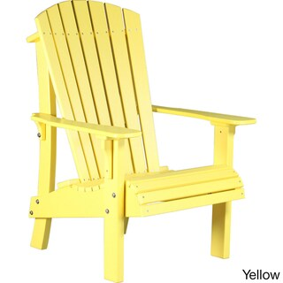 Deluxe Poly Comfort Height Adirondack Chair (Option: Yellow)
