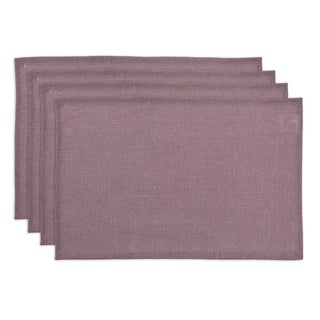 Burlap Lavender Hemmed Placemat (Set of 4)