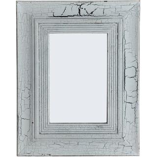 Pale White Wash Wood Frame Mirror