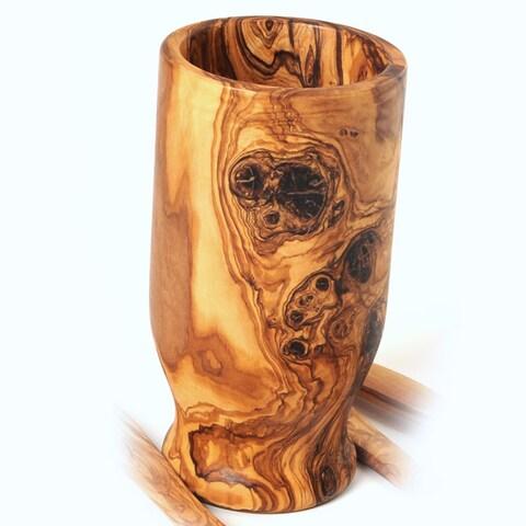 Handmade Olive Wood Utensil Holder (Tunisia)
