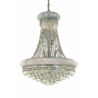 Elegant Lighting 24-inch Chrome Royal Cut Crystal Clear Hanging Fixture