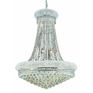 Elegant Lighting 28-inch Chrome Royal Cut Crystal Clear Hanging Fixture