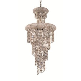 Elegant Lighting 16-inch Chrome Royal Cut Crystal Clear Hanging Fixture