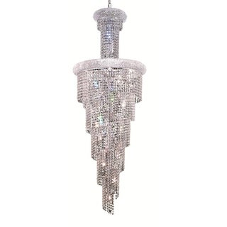 Elegant Lighting Chrome 22-inch Royal Cut Crystal Clear Large Hanging Fixture