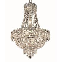 Elegant Lighting Royal Cut Crystal Clear Chrome 16-inch Hanging Fixture