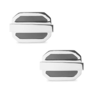 La Preciosa Stainless Steel and Enamel Men's Cuff Links