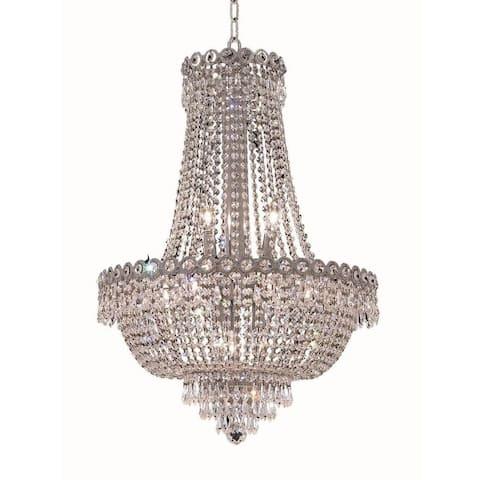 Elegant Lighting Chrome Royal Cut 20-inch Crystal Clear Hanging Fixture