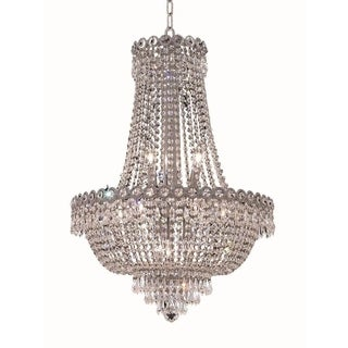 Elegant Lighting Chrome Royal Cut 20-inch Crystal Clear Hanging Fixture