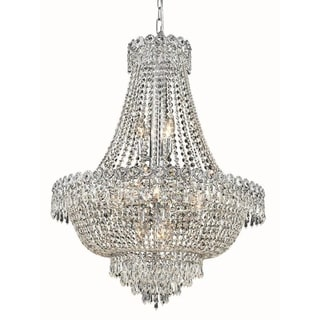 Elegant Lighting Crystal Clear Chrome 24-inch Royal Cut Hanging Fixture