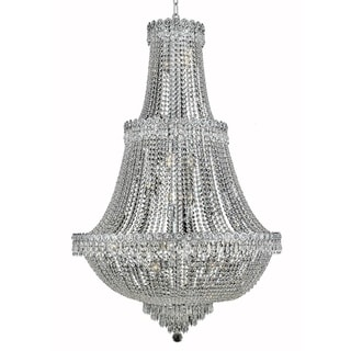 Elegant Lighting 30-inch Chrome Royal Cut Crystal Clear Large Hanging Fixture