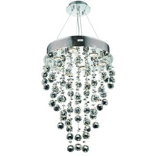 Elegant Lighting Chrome 16-inch Royal Cut Crystal Clear Hanging Fixture