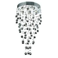 Elegant Lighting Chrome 18-inch Royal Cut Crystal Clear Hanging Fixture
