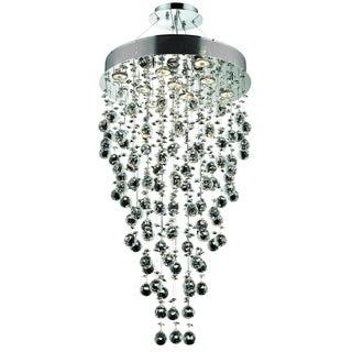 Elegant Lighting Chrome 20-inch Royal Cut Crystal Clear Hanging Fixture