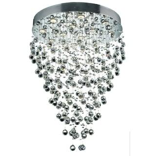 Elegant Lighting Chrome 28-inch Royal Cut Crystal Clear Hanging Fixture