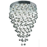 Elegant Lighting Chrome 28-inch Royal Cut Crystal Clear Hanging Fixture