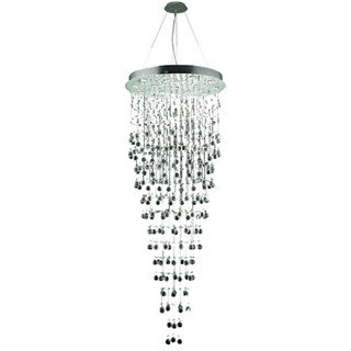 Elegant Lighting Chrome 30-inch Royal Cut Crystal Clear Large Hanging Fixture