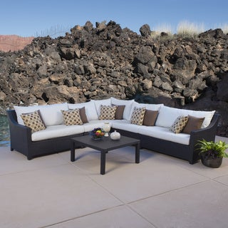 Deco 6-piece Corner Sectional Set with Moroccan Cream Cushions by RST Brands