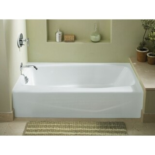 "Kohler K-715 Villager 60"" X 30"" Alcove Bath With Integral Apron And Left-Hand Drain"