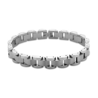 La Preciosa Stainless Steel Men's Fancy Link Bracelet