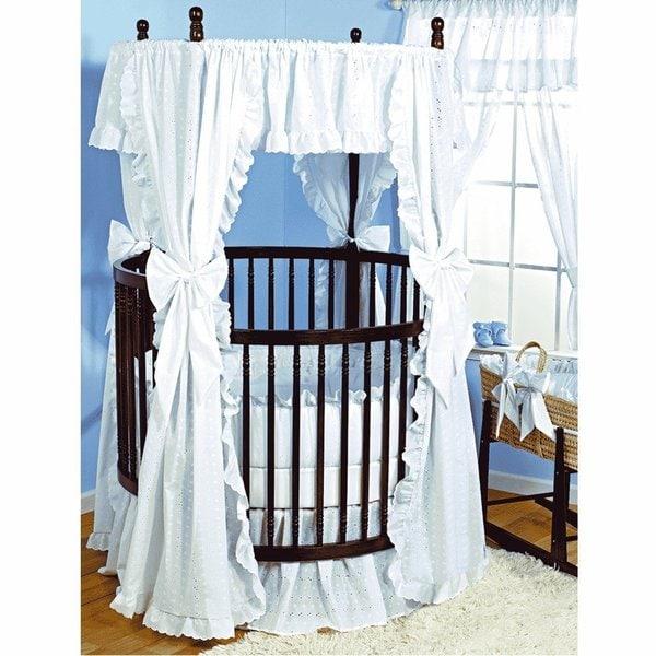 Baby Doll Eyelet Round Crib Bedding