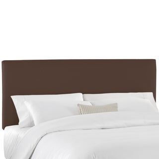 Skyline Furniture California King Upholstered Headboard in Twill Chocolate