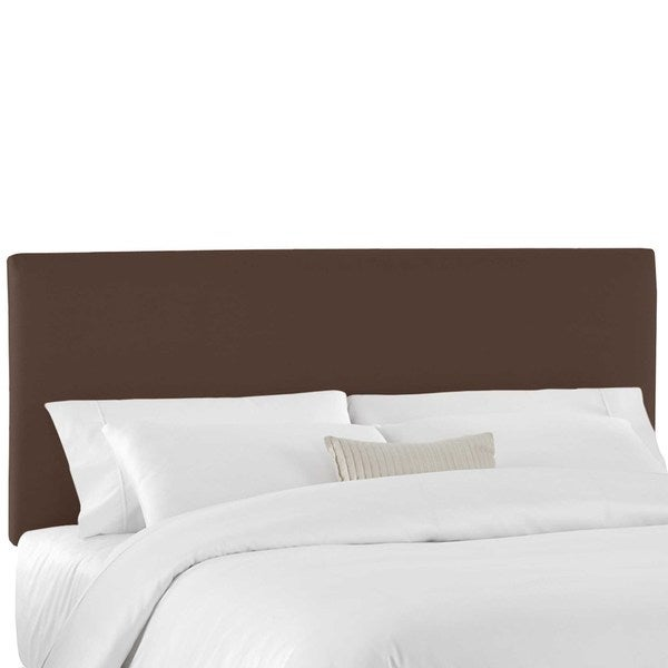 Skyline Furniture California King Upholstered Headboard in Twill Chocolate