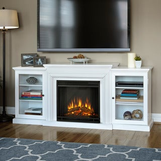 Frederick White Electric Entertainment Fireplace by Real Flame - 72L x 15.5W x 30H
