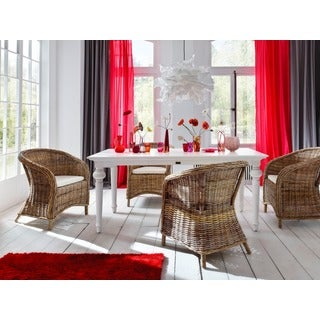 NovaSolo White Mahogany Provence Dining Table