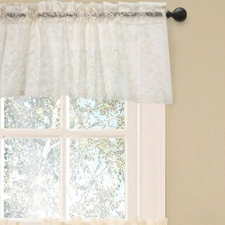 Elegant Ivory Priscilla Lace Kitchen Curtain Pieces- Tier, Swag and Valance Options (3 options available)