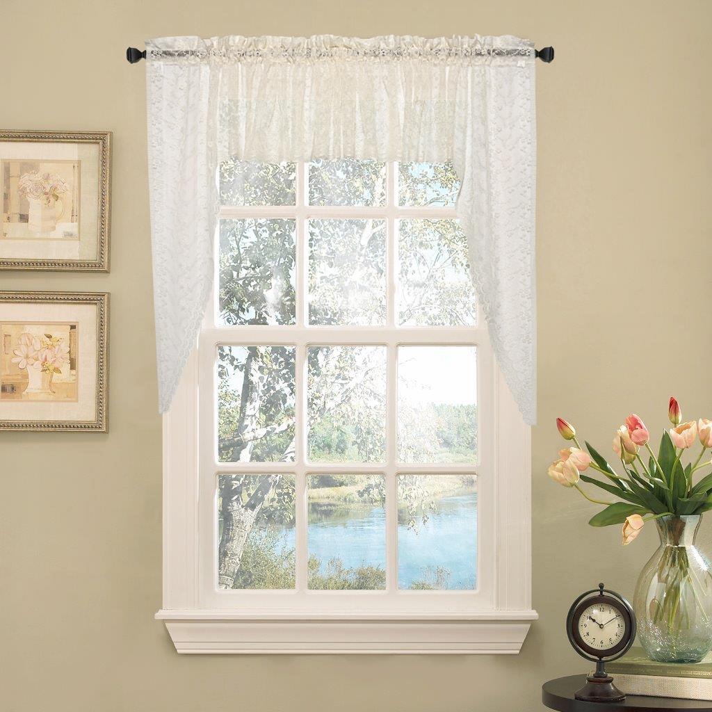 Priscilla Lace Kitchen Curtain Pieces