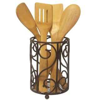 Sweet Home Collection Heavyweight Rust Resistant Bronze Cutlery Holder|https://ak1.ostkcdn.com/images/products/10207075/P17330389.jpg?impolicy=medium