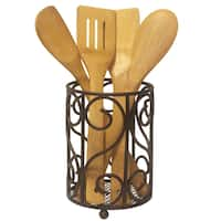 Sweet Home Collection Heavyweight Rust Resistant Bronze Cutlery Holder