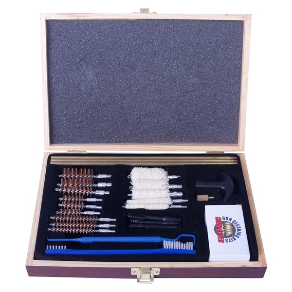Gunmaster Univ Select 30 Pc .22 Cal Cleaning Kit Wood Case