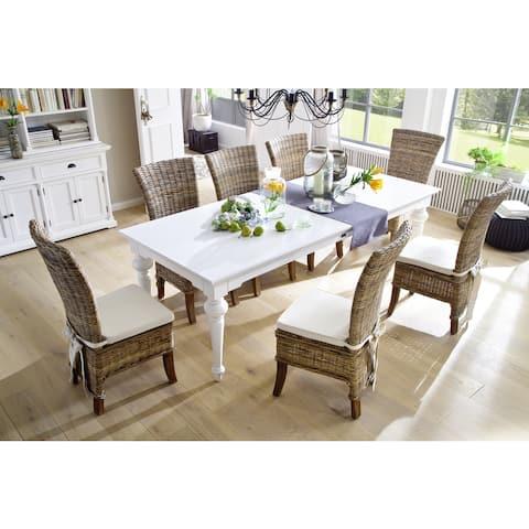 The Gray Barn Fox Hollow White Mahogany Dining Table - 94,49 x 39,37 x 29,92 - 94,49 x 39,37 x 29,92