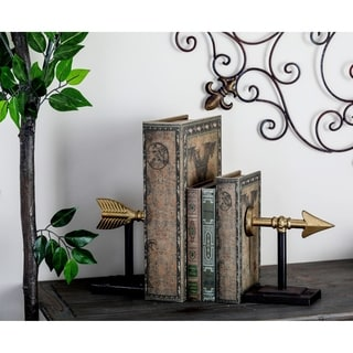 Metal Arrow Bookend Pair