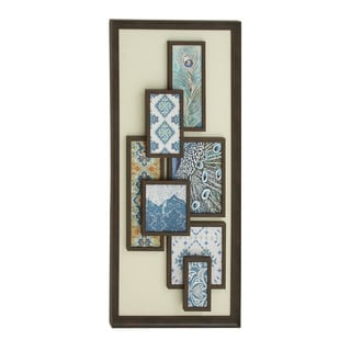 Wooden Framed Abstract Wall Art