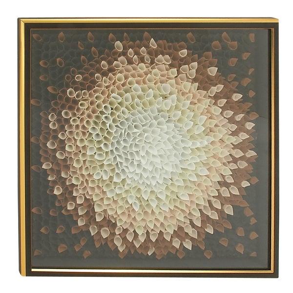 Modern 42 Inch Flower Petal Wooden Framed Fabric Art by Studio 350 ...