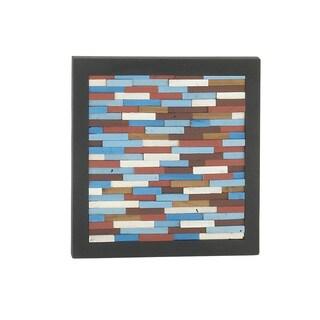 Black Square Wooden Wall Decor