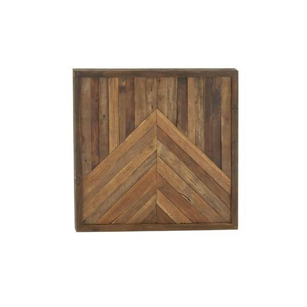 Contemporary Wooden Unframed Wall Decor